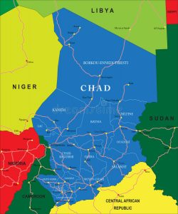 carte Tchad